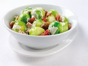 link - Creamed Sprouts with Chestnuts and Bacon